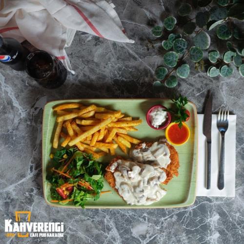 Mantar soslu schnitzel